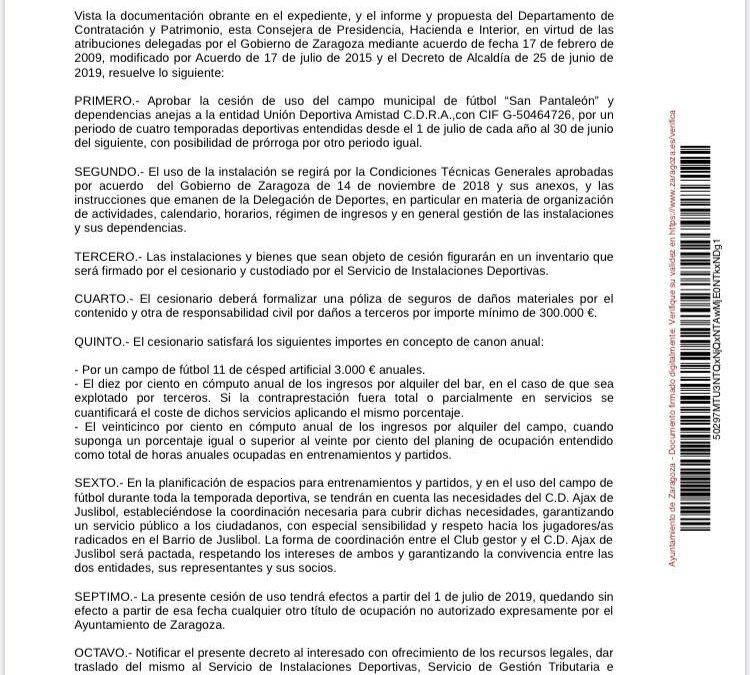 Decreto de la Consejería de Presidencia, Hacienda e Interior